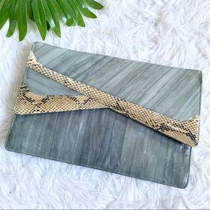 VTG Big Star   Chic eel skin & snake skin purse